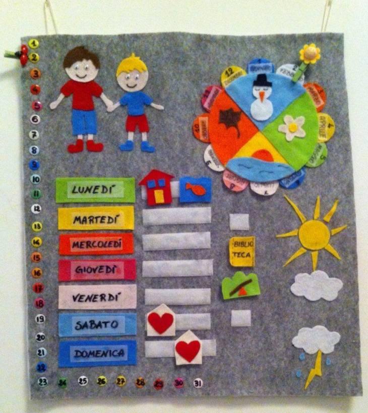 Calendario Legno Bambini.Il Calendario Delle Attivita Capiamo Il Tempo Assieme Il