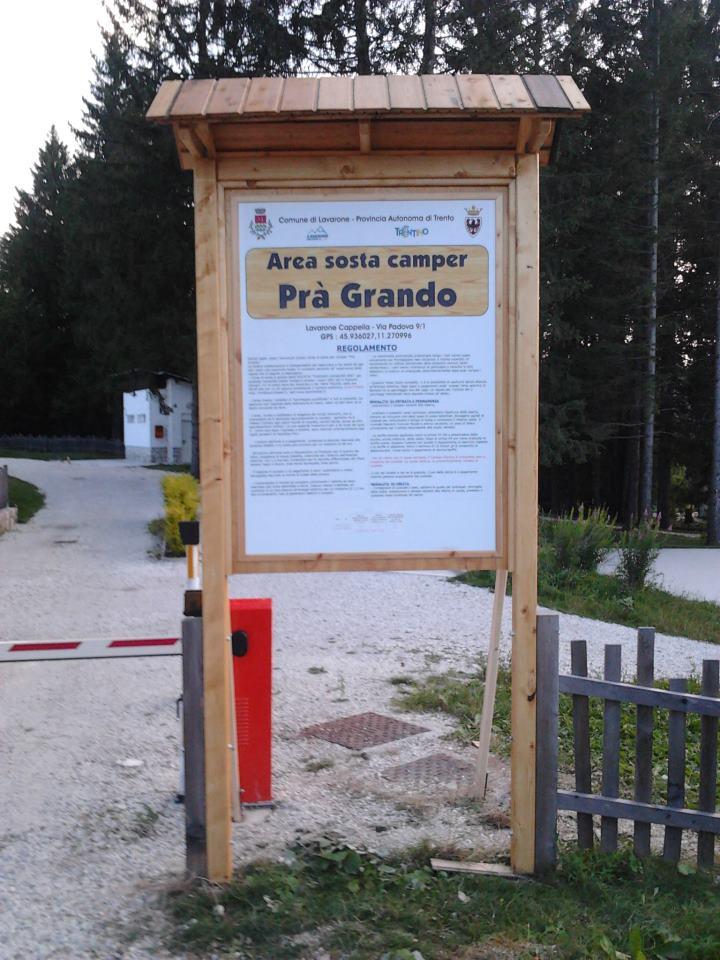 Area Camper Pra Grando entrata