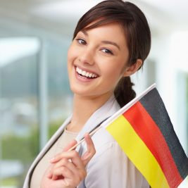 smiling-woman-with-german-flag