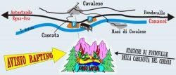 Avisio Rafting mappa